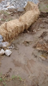 Haybales make terrible erosion control structures